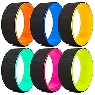 #DoYourFitness Roue de yoga »RollUp/idéale pour exercices d'étirement/Convient aux débutants, les adeptes de yoga, Poids maximal env.120 kg, diamètre 33 cm/Disponible en plusieurs couleurs