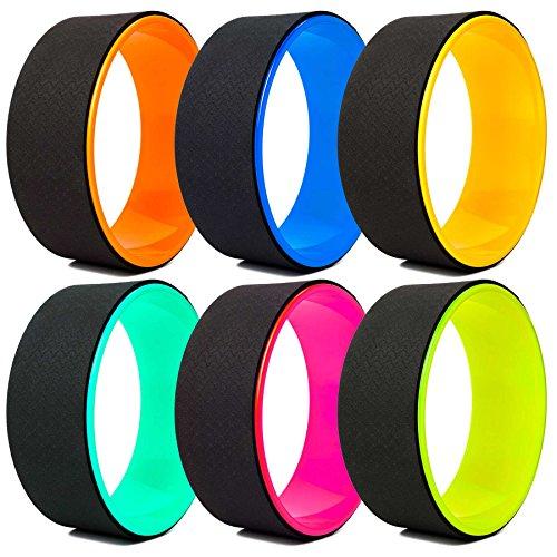 Yoga Rad »RollUp« in vielen Farben zur Verbesserung der Flexibilität bei Yogaübungen. Yogazubehör (Yoga Wheel) zur…