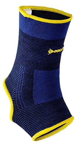 Dunlop Profi Fußgelenkschutz | Fussgelenk Bandage | waschbar | Kompressionsgestrick| für Männer und Frauen – ideal für die Regeneration nach Verletzungen oder zur Entlastung beim Sport (Größe XL)