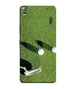 PrintVisa Designer Back Case Cover for Lenovo K3 Note :: Lenovo A7000 Turbo (Golf Stick And Balls Design)