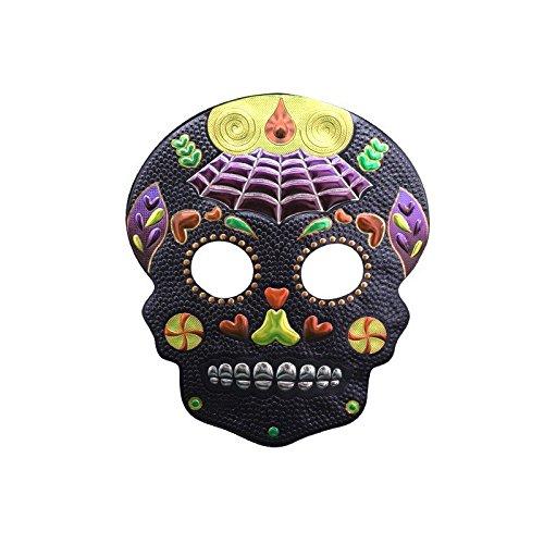 PromMask Masken Gesichtsmaske Gesichtsschutz Domino falsche Front Halloween Make-up Abschlussball Maske männliche Requisiten Horror Teufel Schlau Maske KB12
