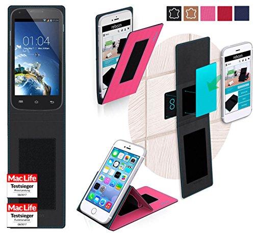 reboon Hülle für Kazam Trooper 2 4.0 Tasche Cover Case Bumper | Pink | Testsieger