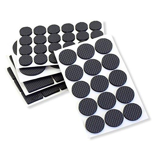Rutschfeste selbstklebend Haarverdichtung Skid Schutz Gummifüße Pads Möbel Stuhl Pads Schutzhülle Verschleißfest Sleeve, Circular, 48