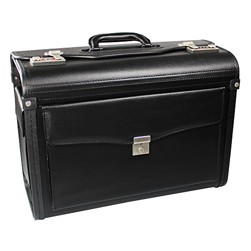 COM-FOUR Pilotenkoffer Aktenkoffer schwarz 46,0 x 33,5 x 21,0 cm