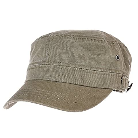 WITHMOONS Militaire Casquette de Baseball Cadet Cap Cotton Vintage Washed Army Military Hat CR4455 (Green)