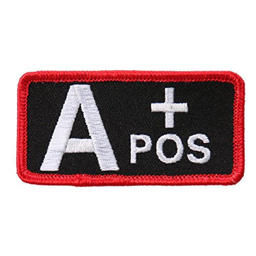 "Hot Leathers, BLOOD TYPE A+ POS, Exceptional Quality Iron-On / Saw-On, Rayon A Postive PATCH toppa - 3"" x 2"""