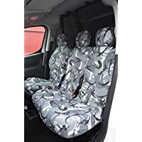 Citroen Berlingo Van 2008in poi coprisedili per sedile del conducente e doppio passeggero anteriore grigio camouflage