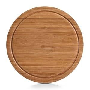 Zeller 25250 Planche à découper ronde en bambou ø 30 x 2 cm