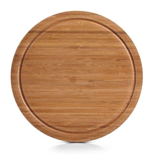 Zeller 25250 Schneidebrett, rund ø 30 x 1,8 cm, Bamboo
