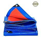 Li Li Na Shop Verdicken Sie Regenputztuch im Freien Wasserdichte Plane Schattenschattenstoff LKW-Abdeckung Isoliertes Ölsegeltuch (Color : Blue, Size : 400cm*400cm)