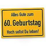 DankeDir! 60. Geburtstag Stadtschild - Kunststoff Schild, Geschenk 60. Geburtstag, Geschenkidee Geburtstagsgeschenk Sechzigsten, Geburtstagsdeko/Partydeko / Party Zubehör/Geburtstagskarte
