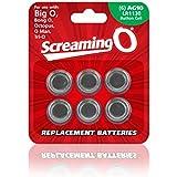 Screaming O -Replacement batteries (6 pezzi)AG10-LR1130, da usare per Big O/ Bong O/ O Man and Tri-O