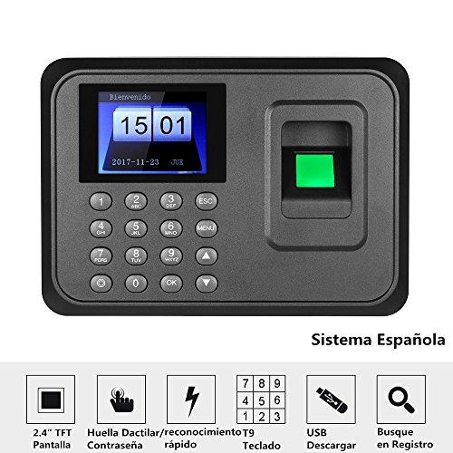 3a60d4e0b2c5 Decdeal – 2.4″ TFT USB Máquina de Asistencia Biométrica de Huella Dactilar