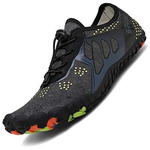 BAOLESEM Herren Damen Barfußschuhe Outdoor Fitnessschuhe Sportschuhe Trekking Schuhe,Z-schwarz,eu41