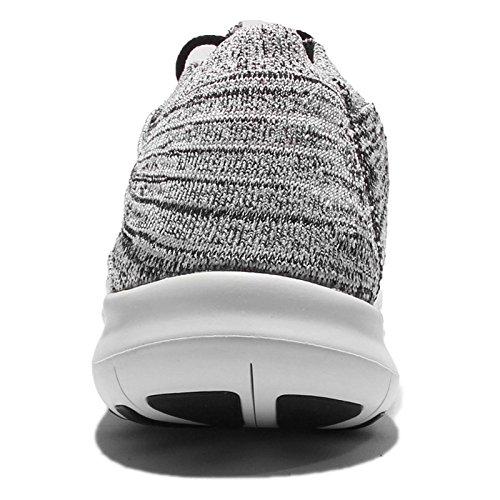 Nike Damen W Free Rn Motion Flyknit Laufschuhe Weiß (White / Black-Volt-Off White)
