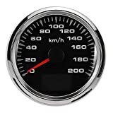 RISHIL WORLD 200km/h DC9-32V 85mm GPS Speedometer Speed Meter Gauge Waterproof for Auto Car Motor ATV Boat