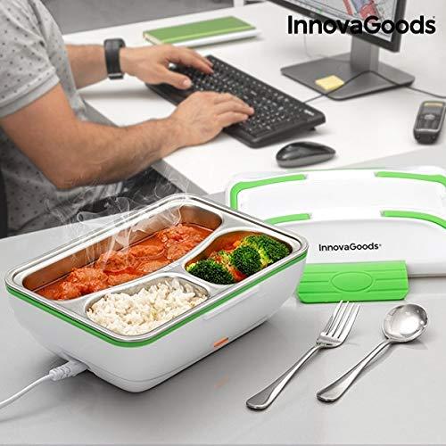 GKA elektrische Lunchbox Essenwärmer Lunch Box Infrarot mit Besteck Innen Edelstahl Büro ohne Mikrowelle Speisenwärmer