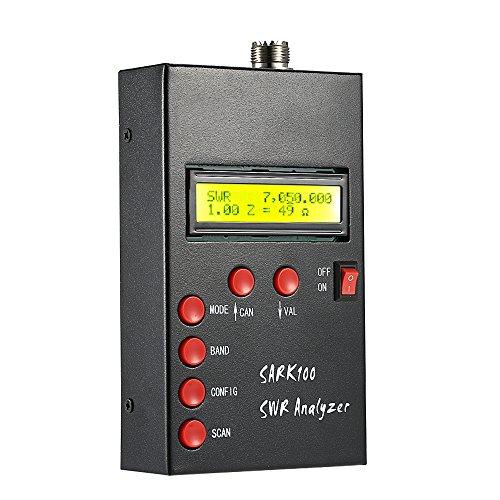 KKmoon 1-60 MHz HF ANT SWR Antenna Analyzer【RF Meter Stehen Welle Prüfer zum Schinken Radio/Hobbyisten Impedanz (Widerstand + Reaktanz) Kapazität Messung】 (Schinken Hat)