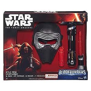 Hasbro – Star Wars : The Force Awaken – Masque et Sabre Laser de Kylo Ren – Accessoires de Déguisement