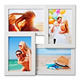 EUGAD Bilderrahmen Bildergalerie Holzrahmen Fotorahmen MDF-Platte für 4 Fotos je 10 x 15 cm (4 x 6) in Weiss BR9641ws