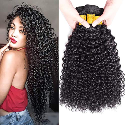 Fzy capelli umani ricci naturale brasiliano capelli veri ricci extension capelli veri tessitura ricci human hair 3 bundles 14 16 18 pollici