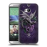 Head Case Designs Offizielle Anne Stokes Schönheit 2 Drachen 3 Soft Gel Hülle für HTC One M8 / M8 Dual SIM
