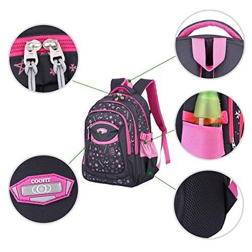 Schulrucksack, Coofit Kinderrucksack Daypack Schultasche Grundschule Backpack Schulranzen für Mädchen Jungen Teenager Jugendliche - 4