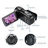 RegaMoudal Full HD 1080P VideoCamera ,Camcorder Fotocamera da 24MP Zoom Digitale 16X ,3