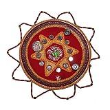 Handicrunch Traditional silver designe pooja Thali