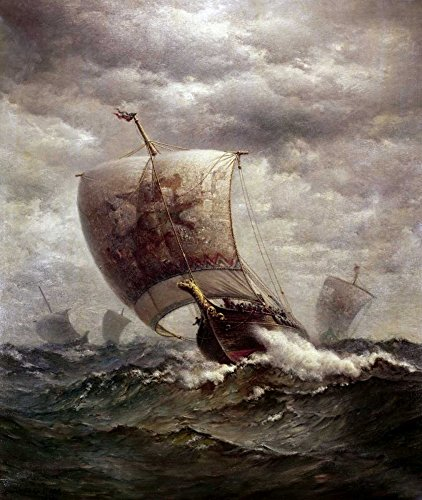 Feeling at home Impresion-en-Papel-Viking-navi-in-??Mare-Tyler,-James-Gale-animales-96_X_81_cm