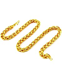 Chain For Men(Alloy Gold Plated Latest Men's Chain) - B074H9LHHD