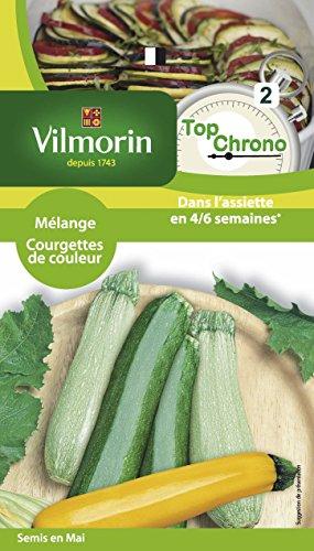 Vilmorin 34838TC Top Chrono Pack de Graines Mélange de Courgettes Colorées