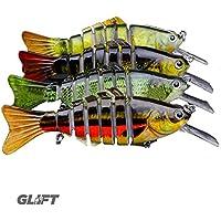 Atractivo 6 articulado de vida como cebos señuelos 11,43 cm 13,5 G Artificial del señuelo de pesca de la lubina, pez depredador, Pike lucioperca, Mar