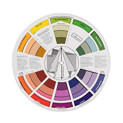 FLAMEER Farbmischrad Farbmischtabelle Farbe Pigment Farbe Muster Color Wheel Analog Farbton