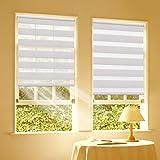 Duo Rollo Doppelrollo Klemmfix für Fenster ohne Bohren Wandmontage mit Klemmträger 45x150cm(BxH) Leinen