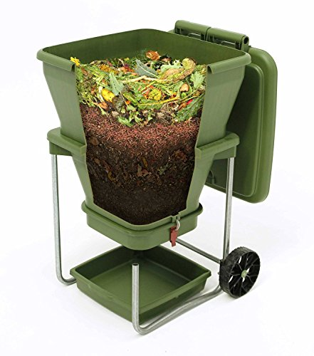 Hungry Bin Wurmkomposter/Wurmfarm mit bedienungsfreundlichem Continuous Flow System -