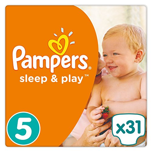 Pampers - Sleep & Play - Couches Taille 5 (11-25 kg) - Pack Moyen (x31 couches)