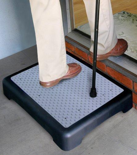 Pharmedics Trittstufe, Beistellstufe, Halbschritt, rutschfest, Einstiegshilfe an Eingangtüren und zum Treppensteigen, für Ältere oder Behinderte, 10cm hoch