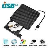 Umiten Externes DVD-Laufwerk, tragbarer DVD-CD-ROM-Brenner mit Integriertem USB-Kabel Unterstützung Windows 98 / SE/ME / 2000 / XP/Vista / Windows 7/8/10 Laptop-Desktops