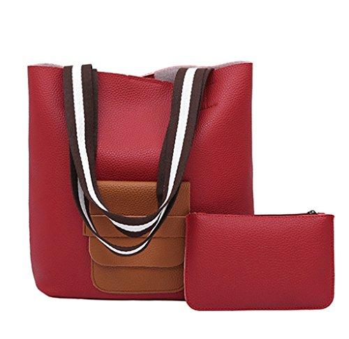 Super Modern, Borsa a spalla donna grigio Dark Grey1 Red1