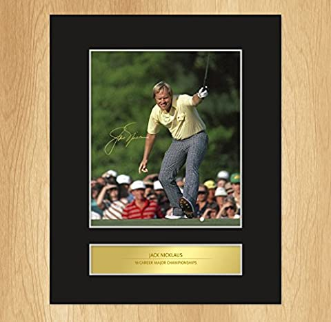 Jack Nicklaus Signed Mounted Photo Display