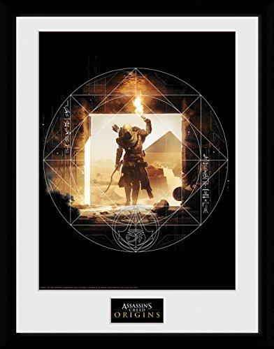 Preisvergleich Produktbild 1art1 106727 Assassin's Creed - Origins, Wanderer Gerahmtes Poster Für Fans Und Sammler 40 x 30 cm