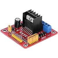 Powlance L298N - Módulo controlador de placa para motor paso a paso de puente doble H para Arduino