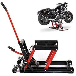 SHIOUCY Cric hydraulique Moto Mini élévateur Lift Hydraulique Moto Jack Max. 680 kg Pont élévateur de Moto