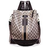Rucksack Dame Mode Reise Wilden Casual Große Kapazität Rucksack Einfache Gezeiten Dual-Use Weibliche Tasche Braun 32 * 14 * 32 Cm,Brown-32 * 14 * 32cm