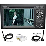 YINUO 7 Inch 2 Din Touch Screen Car Stereo DVD Player Sat Nav In Dash GPS Navigation support AM FM Radio,SWC,Bluetooth Autoradio for Audi A4 ( 2002-2008 ), DTV Included