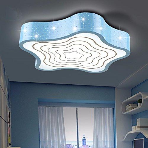 Led Deckenleuchte Kinderzimmer Light 20 W Master Schlafzimmer Licht jungen Mädchen warme und entspannte Starfish Star Cartoon geformte Licht Kreative 42 cm, blau