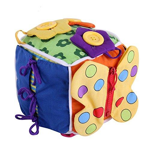 Imagen para per Montessori Tableros de Aprendizaje Juguete de Enseñar Vestir Preescolar 6 Piezas en 1 Libros Blando de Juguete Educativos (B)