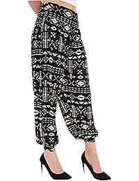 78821a40b839 Momo Ayat Fashions Damen Blumen Azteken Tyedye Jersey Entspannter Lounge  Alibaba Hareem Harem Hosen EUR Größe 36