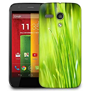 Snoogg Pure Grass Designer Protective Phone Back Case Cover For Motorola G / Moto G